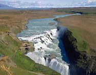 Gullfoss  Hvitá .Gullfoss waterfall, Hvita river.
