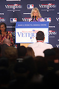 l to r: First Lady Michelle Obama and Dr. Jill Biden at The James J. Peters VA Medical Center Visit with First Lady Michelle Obama and Dr. Jill Biden, wife of Vice President Joe Biden, along with baseball officials visit the James J. Peters VA Medical Center in the Bronx as a show of support for veterans through the Welcome Back Veterans.