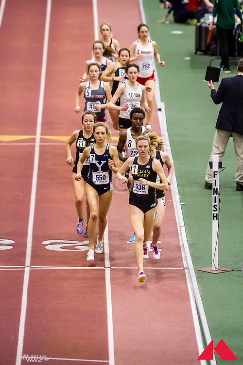 ECAC Indoor Champs, womens 5000, William and Mary, Yale