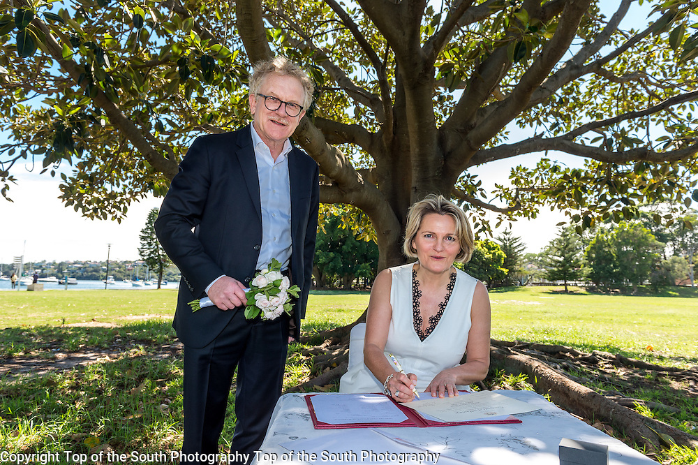 Wonderful day for a lovely couple. Wedding photography taken at Lyne Park, Rose Bay, Sydney NSW Australia 13-2-2017.<br />