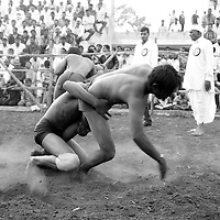 """""""Kushti"""", a form of wrestling, the three thousand year old sport played on Red Soil, traditinonally this event is held at every year in Village Devlali, India, as a part of Mhasoba Maharaj Jatra, where traditional Kushti wrestlers came from all over the country to play and win the game. many wrestlers earn fame and money along with trophies in the event."""