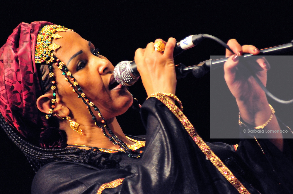 Mahassa Walett Amoumine sings with Atri N'Assouf group