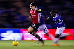 Zak Mills of Morecambe runs with the ball - Mandatory by-line: Robbie Stephenson/JMP - 19/02/2019 - FOOTBALL - Boundary Park - Oldham, England - Oldham Athletic v Morecambe - Sky Bet League Two