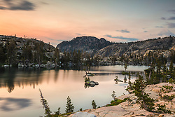 """Paradise Lake Sunset 9"" - Sunset photograph at Paradise Lake in the Tahoe area back country."