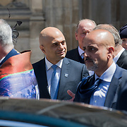 Sajid Javid leaving the Windrush 70th Anniversary at Westminster Abbey, London, UK on June 22nd 2018.