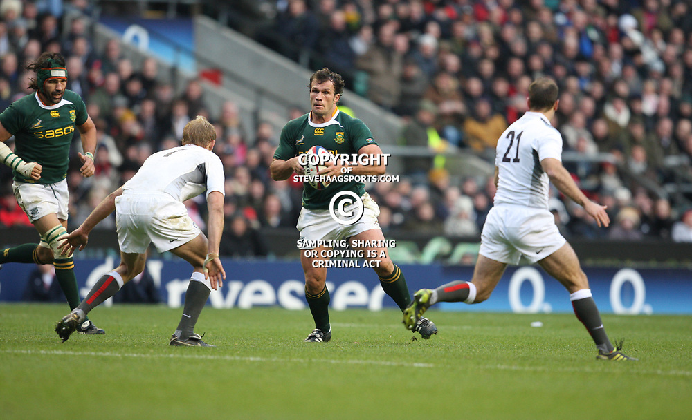 LONDON, ENGLAND - NOVEMBER 27, Man of the Match Bismarck du Plessis during the End of Year tour match between England and South Africa at Twickenham Stadium on November 27, 2010 in London, England<br /> Photo by Steve Haag / Gallo Images