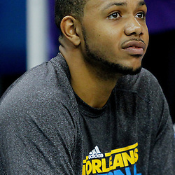 December 21, 2011; New Orleans, LA, USA; New Orleans Hornets shooting guard Eric Gordon (10) prior to tip off of a game against the Memphis Grizzlies at the New Orleans Arena.   Mandatory Credit: Derick E. Hingle-US PRESSWIRE