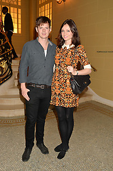 RICHARD JONES and SOPHIE ELLIS-BEXTOR at the Sindika Dokolo Art Foundation Dinner held at The Cafe Royal, Regent Street, London on 18th October 2014.