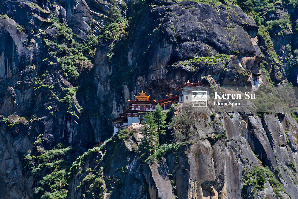 Taktsang (Tiger's Nest) Monastery on the cliff, Paro, Bhutan