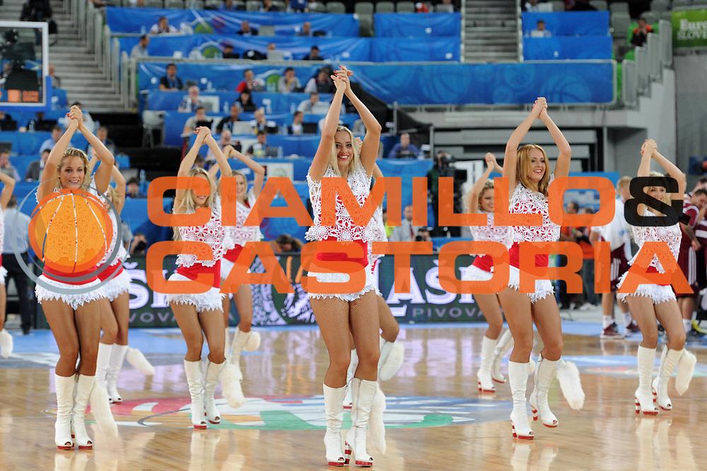 DESCRIZIONE : Lubiana Ljubliana Slovenia Eurobasket Men 2013 Second Round Francia Lettonia France Latvia<br /> GIOCATORE : cheerleaders<br /> CATEGORIA : cheerleaders<br /> SQUADRA : Slovenia Slovenja<br /> EVENTO : Eurobasket Men 2013<br /> GARA : Francia Lettonia France Latvia<br /> DATA : 13/09/2013 <br /> SPORT : Pallacanestro <br /> AUTORE : Agenzia Ciamillo-Castoria/C.De Massis<br /> Galleria : Eurobasket Men 2013<br /> Fotonotizia : Lubiana Ljubliana Slovenia Eurobasket Men 2013 Second Round Francia Lettonia France Latvia<br /> Predefinita :