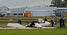 Auckland-Light plane crash lands at Ardmore, two escape injury