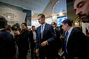 King Felipe VI of Spain at the World Economic Forum in Davos.