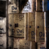 Lockers at a disused mine in Germany