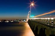 The Cortez Bridge and Intercoastal Waterway in Bradenton, Florida.