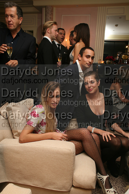 ALICE DELLAL, ALEX DELLAL  AND CHARLOTTE CASIRAGHI, Dinner hosted by Elizabeth Saltzman for Donatella Versace. Claridge's Hotel, Brook Street, Mayfair, London. 11 March 2008.  *** Local Caption *** -DO NOT ARCHIVE-© Copyright Photograph by Dafydd Jones. 248 Clapham Rd. London SW9 0PZ. Tel 0207 820 0771. www.dafjones.com.
