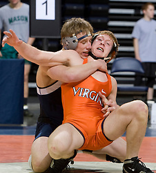 Kaylon Baxter of Old Dominion University, ranked #15 nationally in the 149lb weight class, wrestles Dave Ebbott of the University of Virginia. The 2008 Virginia Intercollegiate Wresting Championships were hosted by the University of Virginia at the John Paul Jones Arena in Charlottesville, VA on January 5, 2008.