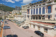 MONACO, MONACO - JUNE 17, 2015:  View to the street in Monaco, Monaco.