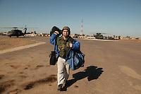 ........Al Franken during USO tour in SW Asia, Dec 2003....Here, in Tikrit, Iraq....USO photo by Owen Franken Al Franken, USO tour