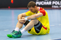 10.04.2016, Ergo Arena, Gdansk, POL, IHF Herren, Olympia Qualifikation, Chile vs Mazedonien, im Bild Filip Mirkulovski // during the IHF men's Olympic Games handball qualifier between Chile and Macedonia at the Ergo Arena in Gdansk, Poland on 2016/04/10. EXPA Pictures © 2016, PhotoCredit: EXPA/ Newspix/ Tomasz Zasinski<br /> <br /> *****ATTENTION - for AUT, SLO, CRO, SRB, BIH, MAZ, TUR, SUI, SWE only*****