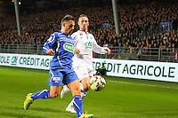 Ruben AGUILAR / Gaetan COURTET - 05.03.2015 - Brest / Auxerre - 1/4Finale Coupe de France<br />Photo : Maxime Kerriou / Icon Sport