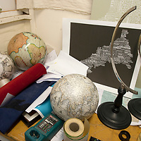 Lander and May, Globe makers, Cowes, isle of Wight, England,