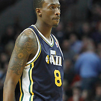 10 March 2012: Utah Jazz small forward Josh Howard (8) is seen during the Chicago Bulls 111-97 victory over the Utah Jazz at the United Center, Chicago, Illinois, USA.