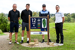 Ollie Clarke joins 3rd Generation Gas as they take part in the Annual Bristol Rovers Golf Day - Rogan/JMP - 09/10/2017 - GOLF - Farrington Park - Bristol, England - Bristol Rovers Golf Day.