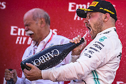 May 12, 2019 - Barcelona, Catalonia, Spain - VALTTERI BOTTAS (FIN) from team Mercedes  drinks some champagne as he celebrates his second place at the Spanish GP on the podium at the Circuit de Barcelona - Catalunya (Credit Image: © Matthias Oesterle/ZUMA Wire)