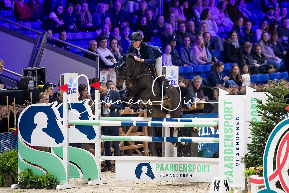Morgan Red, GBR, Bodyssee Des Avelines<br /> Jumping Mechelen 2019<br /> © Hippo Foto - Sharon Vandeput<br /> 28/12/19