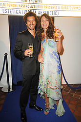 Actress GIOIA MARZOCCHI and actor FRANCESCO SCIANNA at the Launch of Peroni Nastro Azzurro Accademia del Film Wrap Party Tour held atThe Boiler House, 152 Brick Lane, London E1 on 25th August 2010.