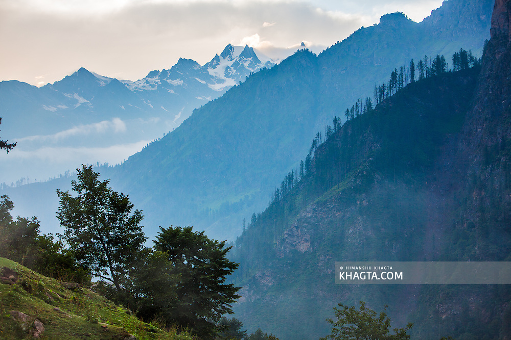 Landscapes from Kheerganga in Parvati valley in Kullu, Himachal Pradesh, India