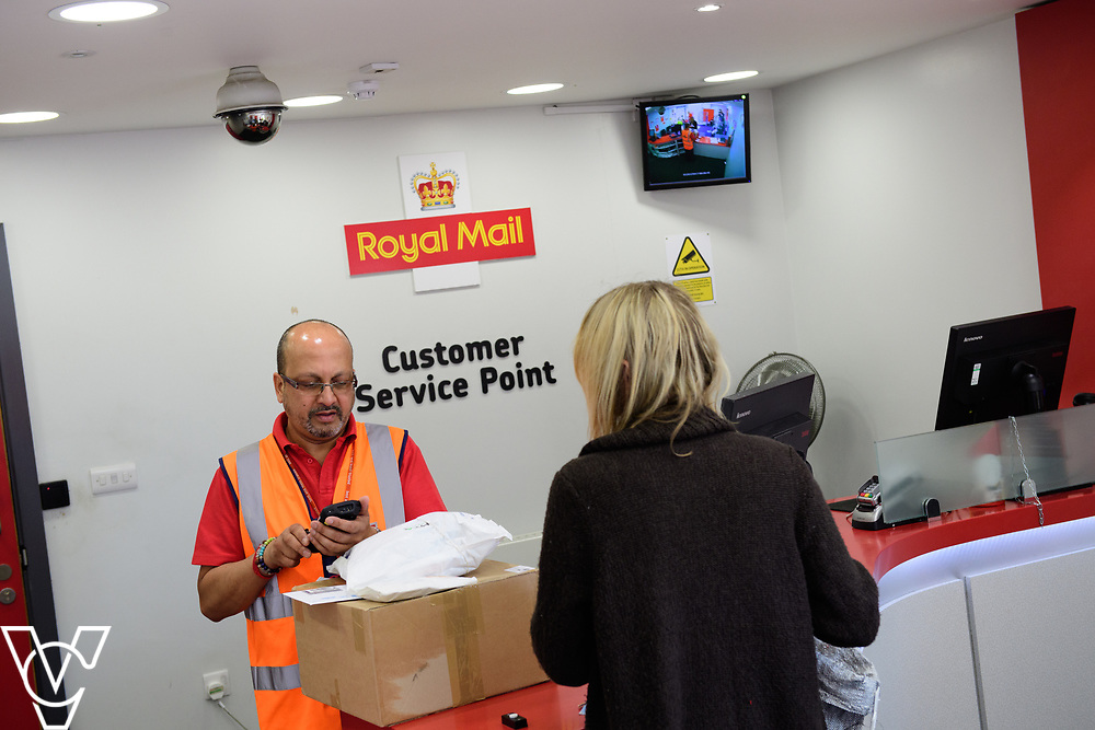 Royal Mail stock photography at Leicester South Delivery Office.  Customer Service Point. <br /> <br /> Picture: Chris Vaughan Photography<br /> Date: July 7, 2017