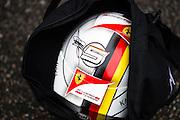 April 10-12, 2015: Chinese Grand Prix - A replica helmet hand painted by a Sebastian Vettel fan.