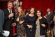 RICHARD MADDELEY; KATHRYN BLAIR;; CHERIE BLAIR; ARLENE PHILLIPS, Pre -drinks at the St. Martin's Lane Hotel before a performance of the English National Ballet's Nutcracker: London Coliseum.12 December 2013