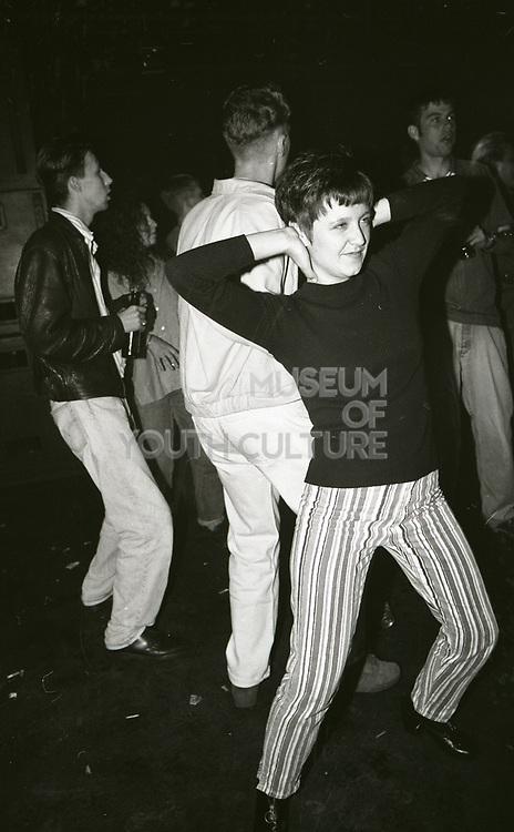 Dancer making moves, The Boardwalk, Manchester, 1991.