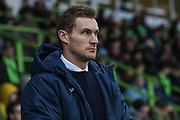 Exeter City Manager Matt Taylor  during the EFL Sky Bet League 2 match between Forest Green Rovers and Exeter City at the New Lawn, Forest Green, United Kingdom on 1 January 2020.