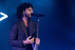 May 5, 2017 - Milano, Italy - Italian singer Francesco Renga live at the Mediolanum Forum in Assago for the ''Scriverò il tuo nome Tour' (Credit Image: © Luca Marenda/Pacific Press via ZUMA Wire)
