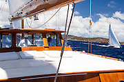 Sailing aboard Sea Diamond in the Antigua Classic Yacht Regatta.