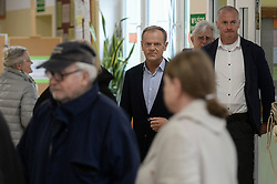 May 26, 2019 - Sopot, Pomerania, Poland - President of European Council Donald Tusk seen voting during European Parliament elections. (Credit Image: © Mateusz Slodkowski/ZUMA Wire)