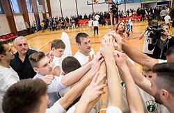 Sasa Doncic, Goran Jagodnik after basketball match between KD Ilirija and KK Mesarija Prunk Sezana in Last Round of 2. SKL  2016/17, on April 15, 2017 in GIB center, Ljubljana, Slovenia. Photo by Vid Ponikvar / Sportida