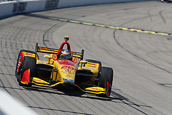 July 8, 2018 - Newton, Iowa, United States of America - RYAN HUNTER-REAY (28) of the United States battles for position during the Iowa Corn 300 at Iowa Speedway in Newton, Iowa. (Credit Image: © Justin R. Noe Asp Inc/ASP via ZUMA Wire)