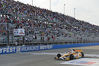 Ryan Hunter-Reay, Milwaukee IndyFest, Milwaukee Mile, West Allis, WI USA 06/15/13