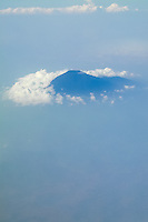 Indonesia, Java.  Volcano (name unknown) seen from a commercial airplane between  Jakarta and Makassar.
