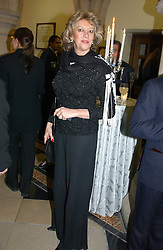 MARIE-CLAIRE BARONESS VON ALVENSLEBEN at The Magic of Winter ball in aid of the charity KIDS held at The Royal Courts of Justice, London on 2nd Ferbruary 2005.<br /><br />NON EXCLUSIVE - WORLD RIGHTS