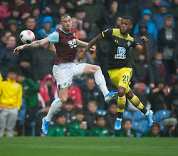 Ashley Barnes of Burnley (L) heads at goal - Mandatory by-line: Jack Phillips/JMP - 10/08/2019 - FOOTBALL - Turf Moor - Burnley, England - Burnley v Southampton - English Premier League