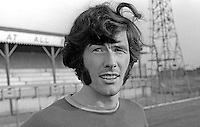 Billy Millen, footballer, Linfield FC, Belfast, N Ireland, August 1970. 1970080295BM1<br /> <br /> Copyright Image from Victor Patterson, 54 Dorchester Park, Belfast, UK, BT9 6RJ<br /> <br /> Tel: +44 28 9066 1296<br /> Mob: +44 7802 353836<br /> Voicemail +44 20 8816 7153<br /> Skype: victorpattersonbelfast<br /> Email: victor@victorpatterson.com<br /> Email: victorpatterson@me.com (back-up)<br /> <br /> IMPORTANT: If you wish to use this image or any other of my images please go to www.victorpatterson.com and click on the Terms & Conditions. Then contact me by email or phone with the reference number(s) of the image(s) concerned.