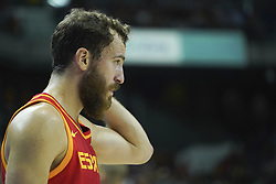 September 17, 2018 - Madrid, Madrid, Spain - Sergio Rodrguez of Spain in action  during the 2019 FIBA Basketball World Cup qualification match between Spain and Latvia at WiZink Center in Madrid, Spain, 17 September 2018  (Credit Image: © Oscar Gonzalez/NurPhoto/ZUMA Press)