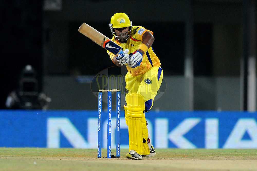 Murali Vijay of Chennai Super Kings bats during match 3 of the NOKIA Champions League T20 ( CLT20 )between the Chennai Superkings and the Mumbai Indians held at the M. A. Chidambaram Stadium in Chennai , Tamil Nadu, India on the 24th September 2011..Photo by Pal Pillai/BCCI/SPORTZPICS