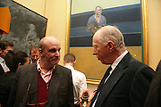 Paul Josefowitz and Lord Rothschild, Party for Jean Pigozzi hosted by Ivor Braka to thank him for the loan exhibition 'Popular Painting' from Kinshasa'  at Tate Modern. Cadogan sq. London. 29 May 2007.  -DO NOT ARCHIVE-© Copyright Photograph by Dafydd Jones. 248 Clapham Rd. London SW9 0PZ. Tel 0207 820 0771. www.dafjones.com.