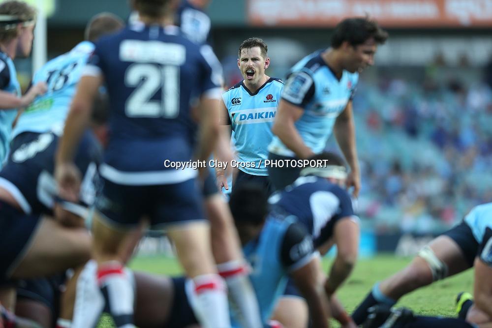 Bernard Foley. Waratahs v Rebels, Super Rugby Round 6. Played at Allianz Stadium, Sydney Australia on Sunday 3 April 2016. Copyright Photo: Clay Cross / photosport.nz